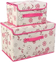 2PCS Unique Storage Laundry Basket Bags Clothes Hamper Storage Foldable Toy Covered Organizer-A07