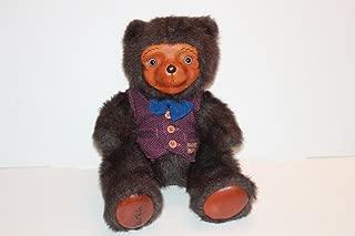 Robert Raikes Bears Signed Bently 14 Inch Carved Wood Bear
