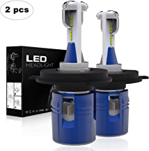 AAIWA H4 LED Headlight Bulbs, Newest Korean CSP LED Chips 60W 7200LM 6000K Xenon White 9003 Hi/Low Extremely Bright All in One Conversion Kit 2PCS, 2 Years Warranty