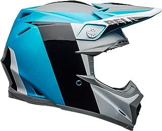 Bell Moto-9 Flex Off-Road Motorcycle Helmet (Division Matte/Gloss White/Black/Blue,  Small)