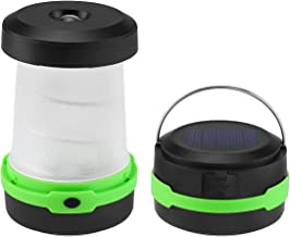Solar LED Camping Lantern Lights, Solar Powered & USB Rechargeable, 3 Lighting Modes, Portable Collapsible Flashlight Emer...