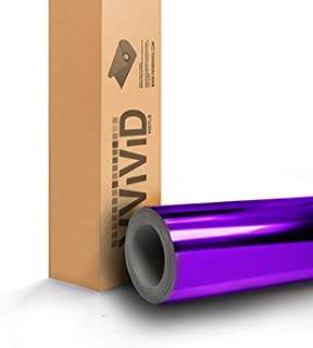 VViViD SuperCast Purple Conform Chrome Metallic Finish Stretch Vinyl Wrap Film Decal Sheet Roll (1ft x 5ft)
