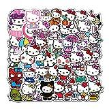 50Pcs Hello Kitty Kitty White Theme Waterproof Stickers for Laptop Cellphone Water Bottle Skateboard Luggage Car Bumper JMLD