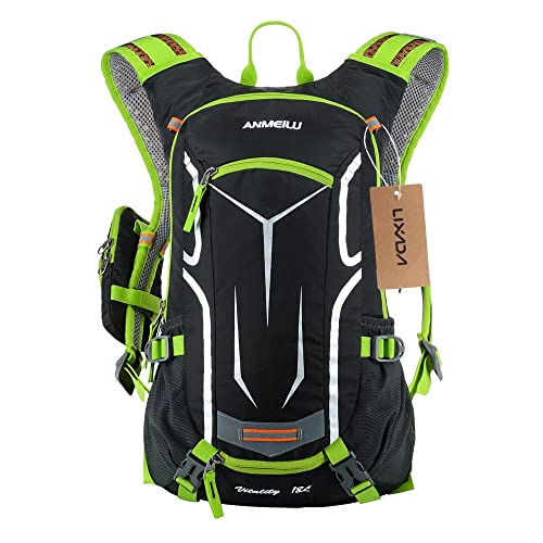 2598df7f82 Lixada Cycling Rucksack, 18L Waterproof Bike Backpack Breathable and Lightweight  Running Backpack for Fitness Running