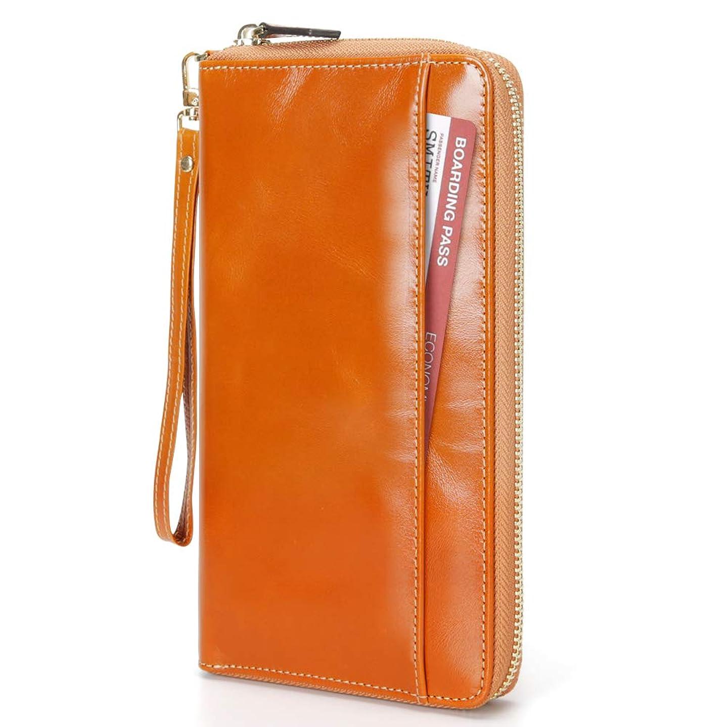 伝記中級イブEGRD パスポートケース カードケース 大容量 RFIDスキミング防止 7カード入れ ペンホルダー*1 お札/航空券/パスポートなど入れ可 海外旅行/出張/ビジネスなどに適用 ハンドストラップ付