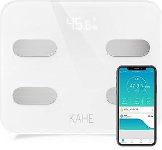 体重計 体脂肪計・体組成計 体重/体脂肪率/体水分率など多項指標 高精度ボディスケール スマホ連動 Bluetooth対応 ダイエット 健康管理 肥満予防 iOS/Android対応 技適認証済 日本語対応APP&取扱説明書(白)