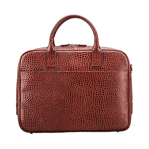 Maxwell Scott Bags® Kroko Luxus Aktentasche