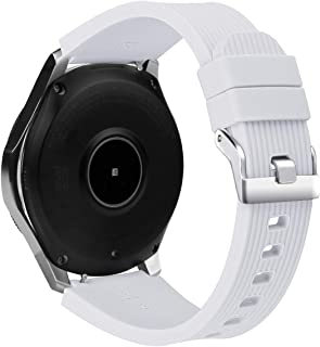 BONSTRAP Compatible Samsung Galaxy Watch 46mm/Samsung Gear S3 Frontier/Classic 22mm Silicone Watch Band