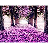 Fototapeten Wald Park 352 x 250 cm Vlies Wand Tapete Wohnzimmer Schlafzimmer Büro Flur Dekoration Wandbilder XXL Moderne Wanddeko - 100% MADE IN GERMANY - Pink Violett Lila Runa Tapeten...