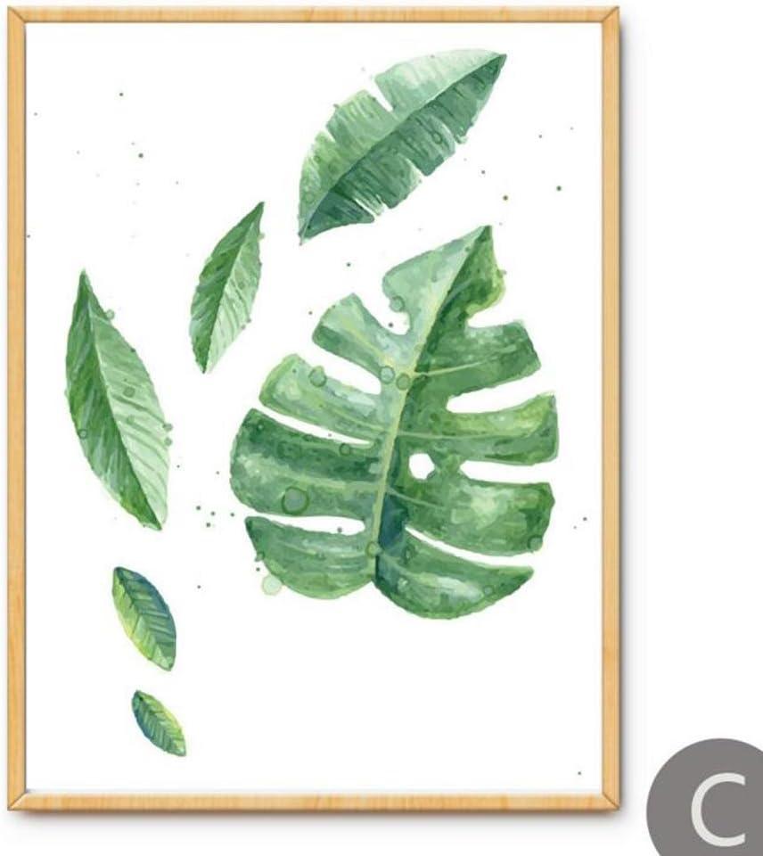 MINRAN DECOR K Pintura de Pared Impresi/ón de Moderna de Lona Arte Decoraci/ón Sal/ón Oficina Regalo C 21x30cm Peque/ñas Hojas Frescas de Acuarela D75501