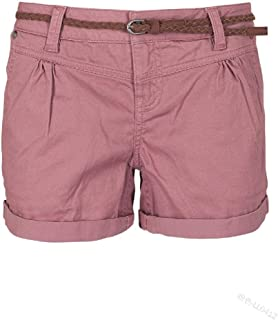 neveraway Women Folded Hem Classic Leisure Comfort Over Waist Hot Pants