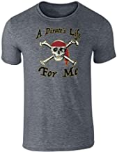 Pop Threads A Pirate's Life for Me Skull Halloween Costume Graphic Tee T-Shirt for Men