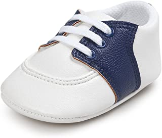 Baby Saddle Shoes for Boys Girl Infant Toddlers Lace-up Sneakers