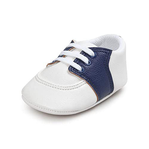 900b04e8c1bc Fire Frog Baby Saddle Shoes for Boys Girl Infant Toddlers Lace-up Sneakers
