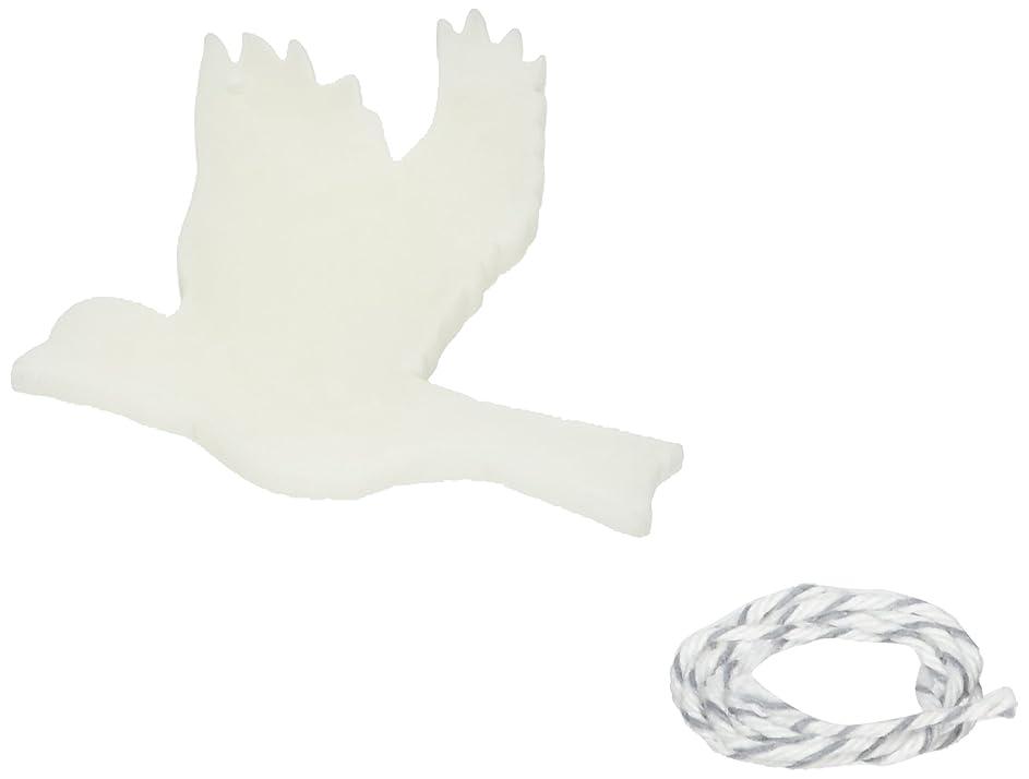 検体精神敵意GRASSE TOKYO AROMATICWAXチャーム「ハト」(WH) スイートマジョラム アロマティックワックス グラーストウキョウ