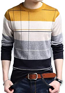 Ahava Avenue Thin Striped Spring and Autumn Sweater Pullover for Men