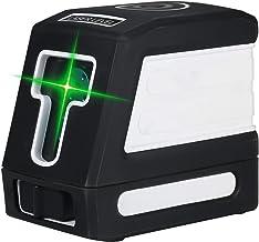 Romacci Autonivelamento de 2 linhas de nível de laser verde Kit profissional de nivelamento de linha cruzada horizontal e ...