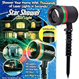 Brand World Star Shower LED Outdoor/Indoor Laser-Projected Light (+ 1 Mobile Stand Free)