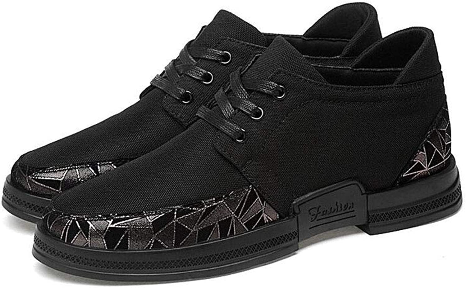 Y-H Men shoes,Spring New Lace-Up Formal Casual shoes, Student Flats Loafers, Road Cycling shoes Cycling shoes,Black,42