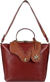 Hidesign Wild West Aw 19 Women's Shoulder Bag (Red)