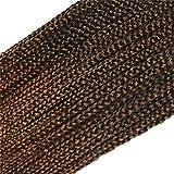 Leyoo 18' Kanekalon Crochet Box Braids (24 Roots/Pack, 3 Packs/Box) Small Box Braids Crochet Hair...