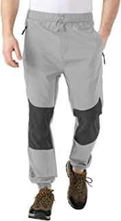 TBMPOY Mens Waterproof Hiking Pants Lightweight Fishing Military Outdoor Travel Pants for Camping,Style2-Light Grey,Medium