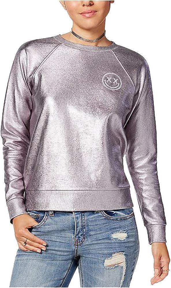 Polly /& Esther Juniors Metallic Foil Sweatshirt