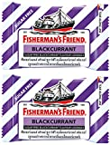 Fisherman's Friend Blackcurrant Flavour Lozenges Sugar Free Candy 25g. (Pack of 2)