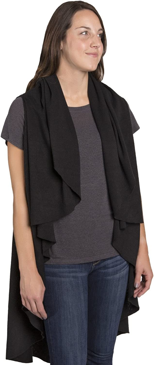 Black City Wrap One Size Fits Most MultiUse Wrap Scarf Accessory