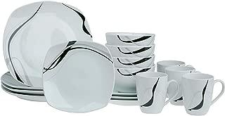 カーニバル16pcソフト正方形磁器食器セット