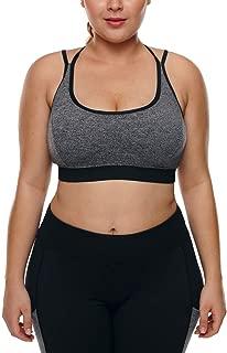 Just For Plus Women's Fashion Plus Size Racerback Gym Workout Sports Bra,L-3XL