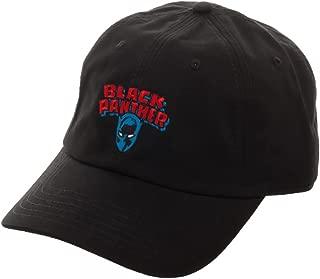Black Panther Logo Embroidered Dad Hat