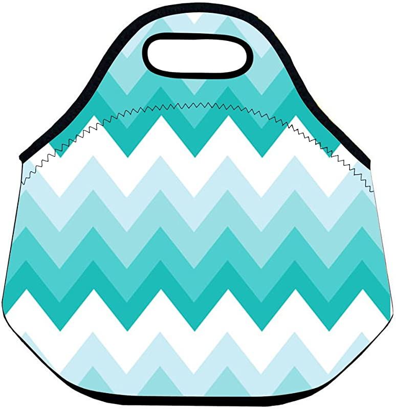 Insulated Lunch Bag And Reusable Lunch Tote For Adults Teal Pink Triangle Floral Pattern 30 28 16 CM