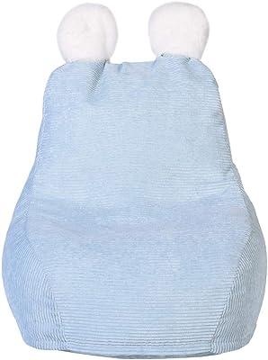 Home Deco Kids - Fauteuil Poire Enfant Bleu Ted - 40x62x70 cm - Hauteur d'Assise 23 cm