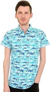 Hombre Indie Kitsch Shark Attack Camisa Manga Corta