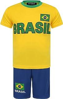 Aelstores Fútbol Pantalones Cortos de Verano Niños Nuevas niñas Camiseta Superior Conjunto de Chaleco Tamaño del Juego Eda...