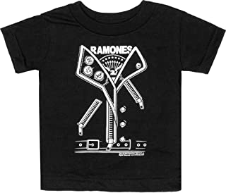 Black Ramones Leather Jacket Style Punker Children's T-Shirt from Clothing