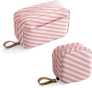 حقيبة مكياج صغيرة قطعتان حقيبة مستحضرات تجميل أحمر الشفاه حقيبة سفر أدوات الزينة منظم إكسسوارات للماء للنساء