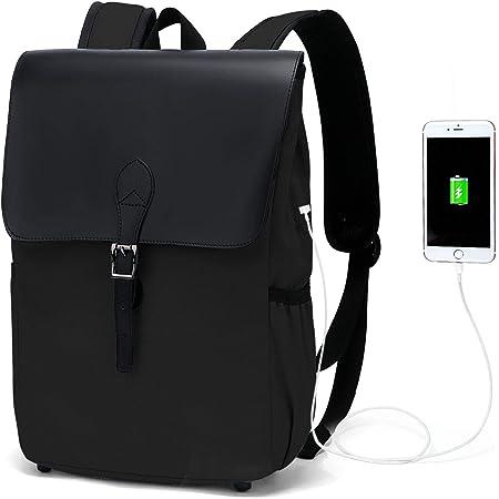 WindTook Daypack Rucksack Damen Schulrucksack Vintage Tagesrucksack Backpack 15 Zoll mit USB Anschluss für Uni Schule Alltag Freizeit , 27 x 14 x 38 cm