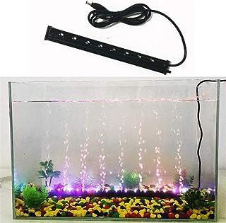 LHY LIGHT Bubble Fish Tank Luz LED Colorida Acuario Iluminación de oxígeno Decoración para Agua Salada