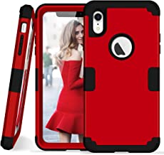 iPhone Xr Case, Asstar iPhone Xr - 3 in 1 Shockproof Hybrid Hard PC+ Soft TPU Impact Protection Scratch-Resistant Cover Absorption Bumper Full-Body Case for iPhone Xr Case (Red)