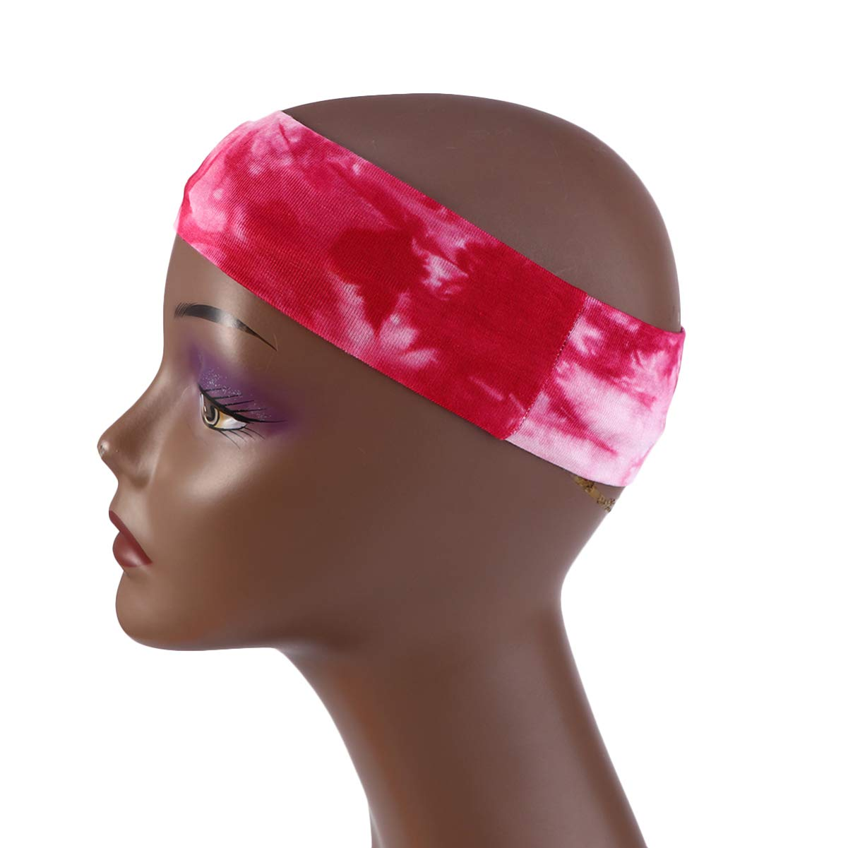 PIXNOR 3 St/ücke Elastische Stirnband Yoga Sport Kopfband Make Up Haarband OP Arzt Haube Gesichtsschutz mit Knopf Kopfbedeckung Outdoor Bandana Radfahren Turban Kopftuch
