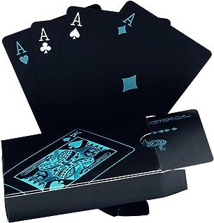 Schwarze Spielkarten Wasserdichtes Pokerkarten Profi Poker Playing Cards Karte Spielkarte..