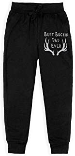 Dxqfb Best Buckin Dad Ever Boys Sweatpants,Sweatpants For Boys