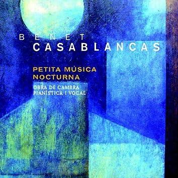 Benet Casablancas: Petita Música Nocturna. Obra de Cambra Pianística i Vocal