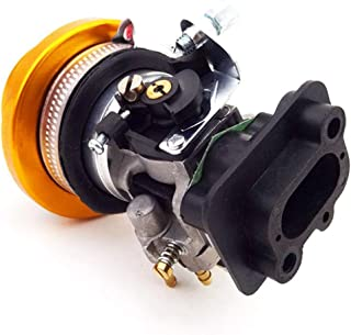 TC-Motor 15mm Carb Carburetor 44mm Air Filter Alloy Stack Kit For 2 Stroke 33cc 43cc 49cc Engine Parts Goped EVO Gas Scooter