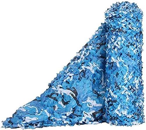 Filet de camouflage parasol multi-usage Filet de camouflage bleu marine pour la décoration de plage en plein air (taille  3x8m) Bache AI LI WEI (Taille   10x10m)