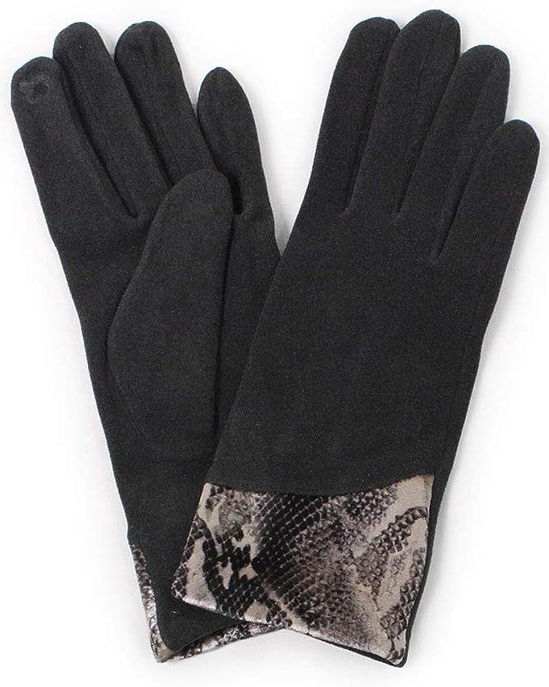 ScarvesMe Women's Snake Skin Python cuff Winter Warm Soft Touch Screen Gloves
