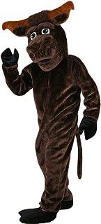 Langteng brun stark muskel ko buller tecknad maskot kostym äkta bild 15-20 dagar leverans märke