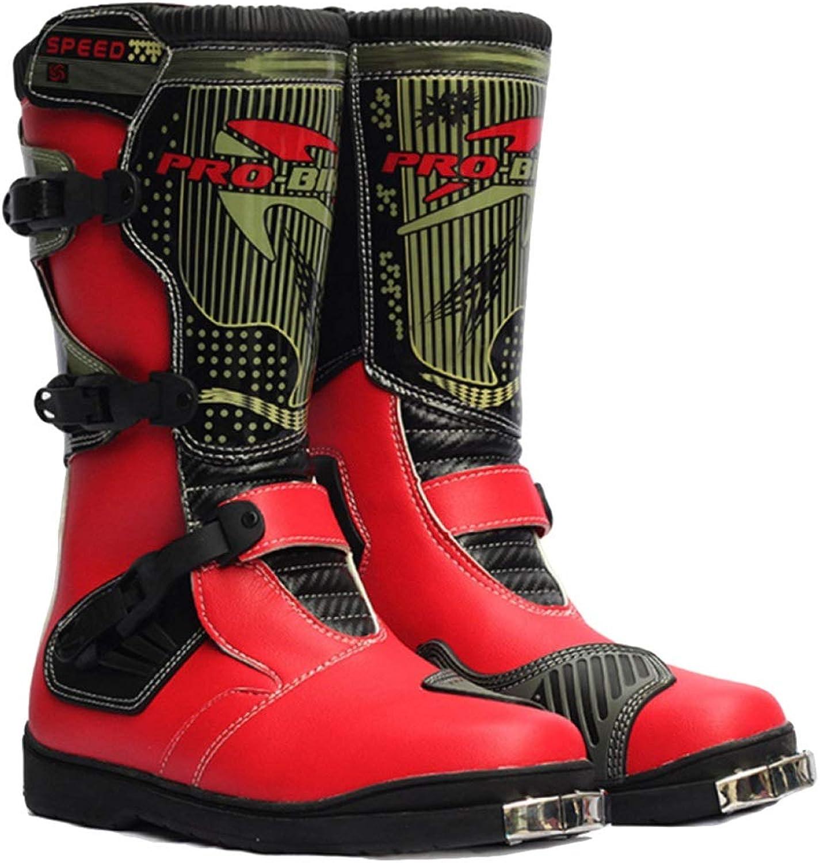 WWJDXZ Stiefel Mens High Top Motorradstiefel Anti Slip Motorrad Gepanzerte Stiefel Wasserdichte Cruiser Stiefel Warme Schutzschuhe